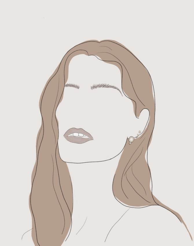 Minimal girl illustration